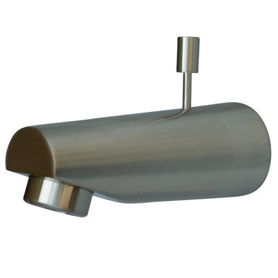 "Kingston Bathroom Accessories Satin Nickel 5-7/8"" Diverter Tub Spout K6184A8"