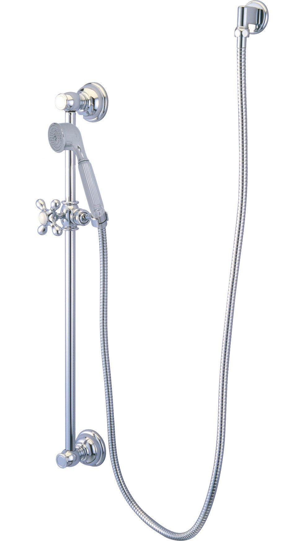 Kingston Brass Chrome 4 Piece Handheld Shower head Combo with ...