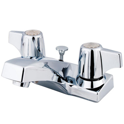 "Kingston Brass Chrome 2 Handle 4"" Centerset Bathroom Faucet w Pop-up KB100B"