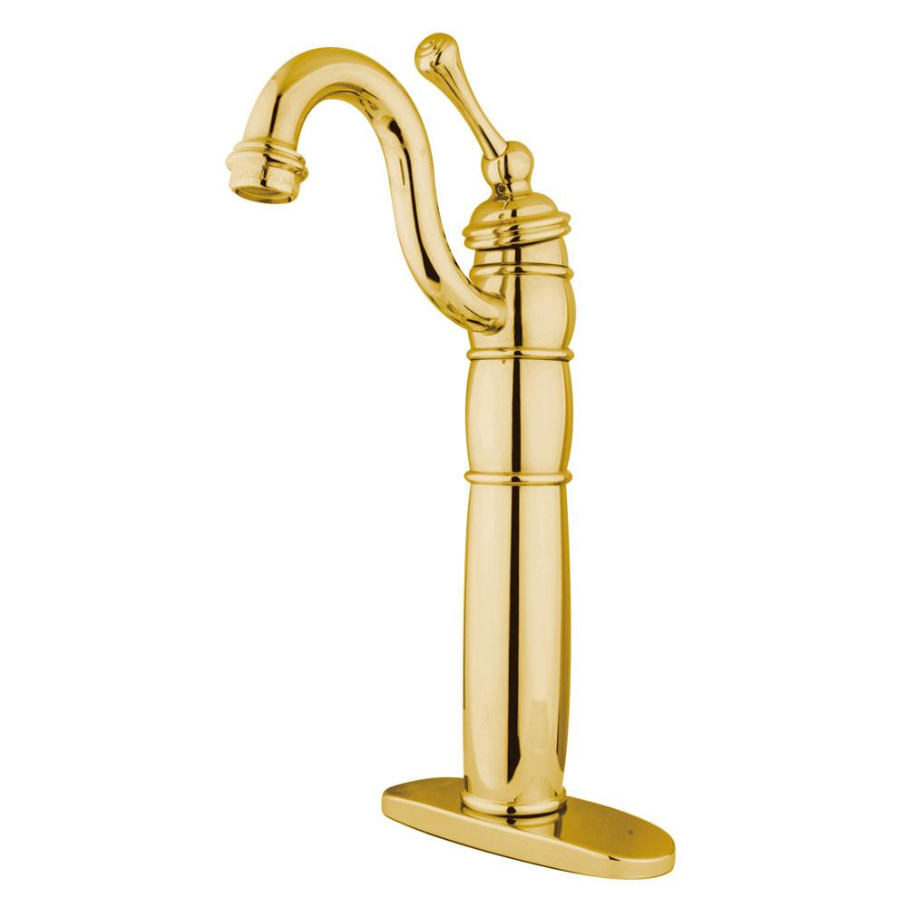 Kingston Polished Brass Single Handle Vessel Sink Bathroom Faucet KB1422BL