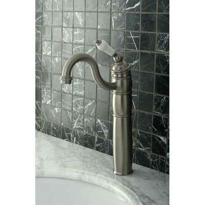 Kingston Brass KB1428PL Heritage Vessel Sink Faucet with Optional Cover Plate Brushed Nickel