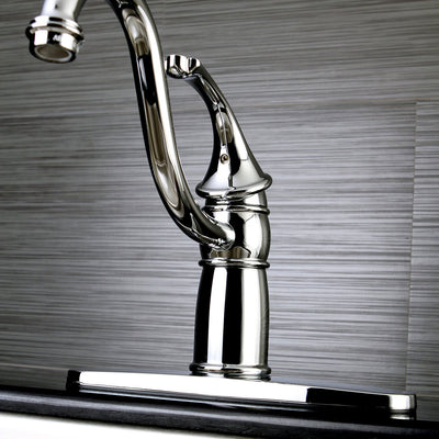 "Kingston Brass Chrome Georgian 8"" kitchen faucet without sprayer KB1571GLLS"