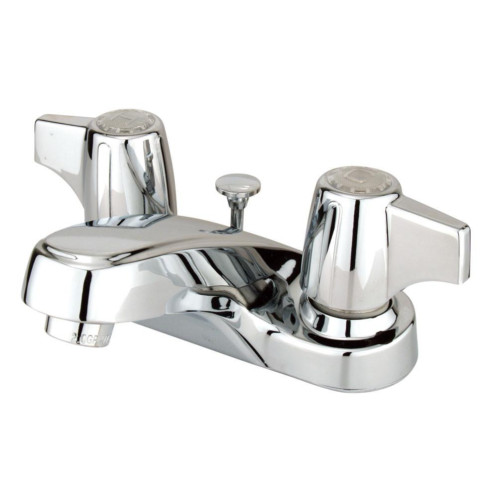 "Kingston Brass Chrome 2 Handle 4"" Centerset Bathroom Faucet w Pop-up KB160B"