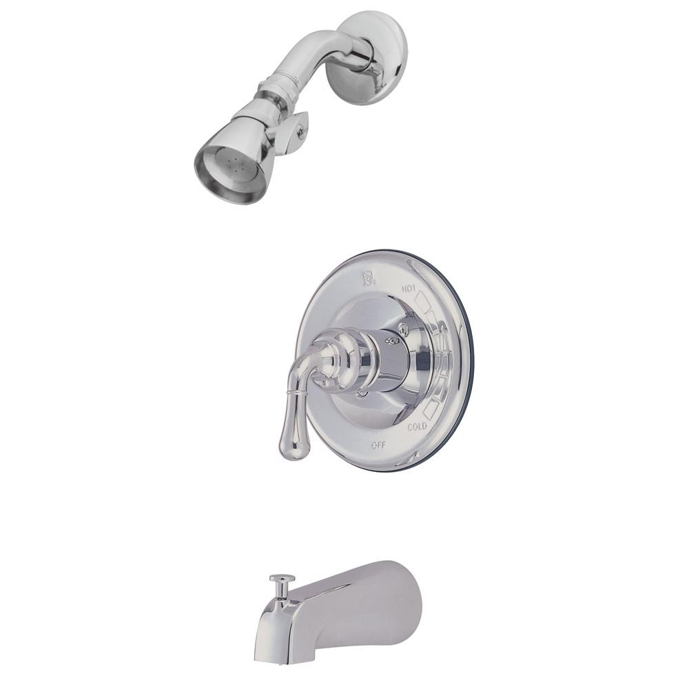 Kingston Chrome Magellan single handle tub and shower combination faucet KB1631