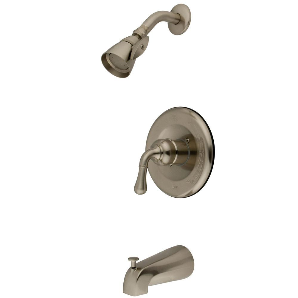 Kingston Satin Nickel Magellan 1 handle tub and shower combination faucet KB1638