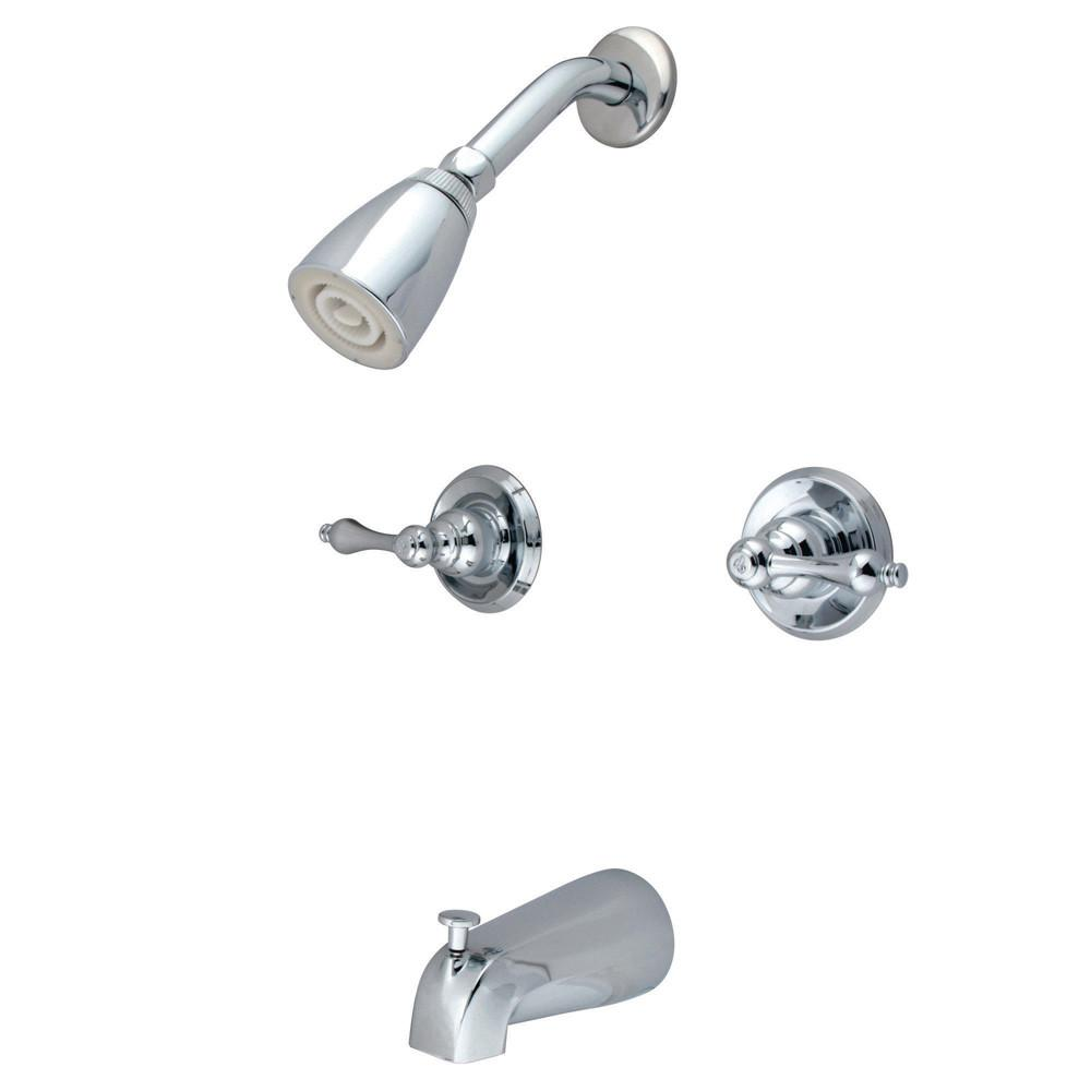 Kingston Magellan Chrome Two Handle Tub & Shower Combination Faucet KB241AL
