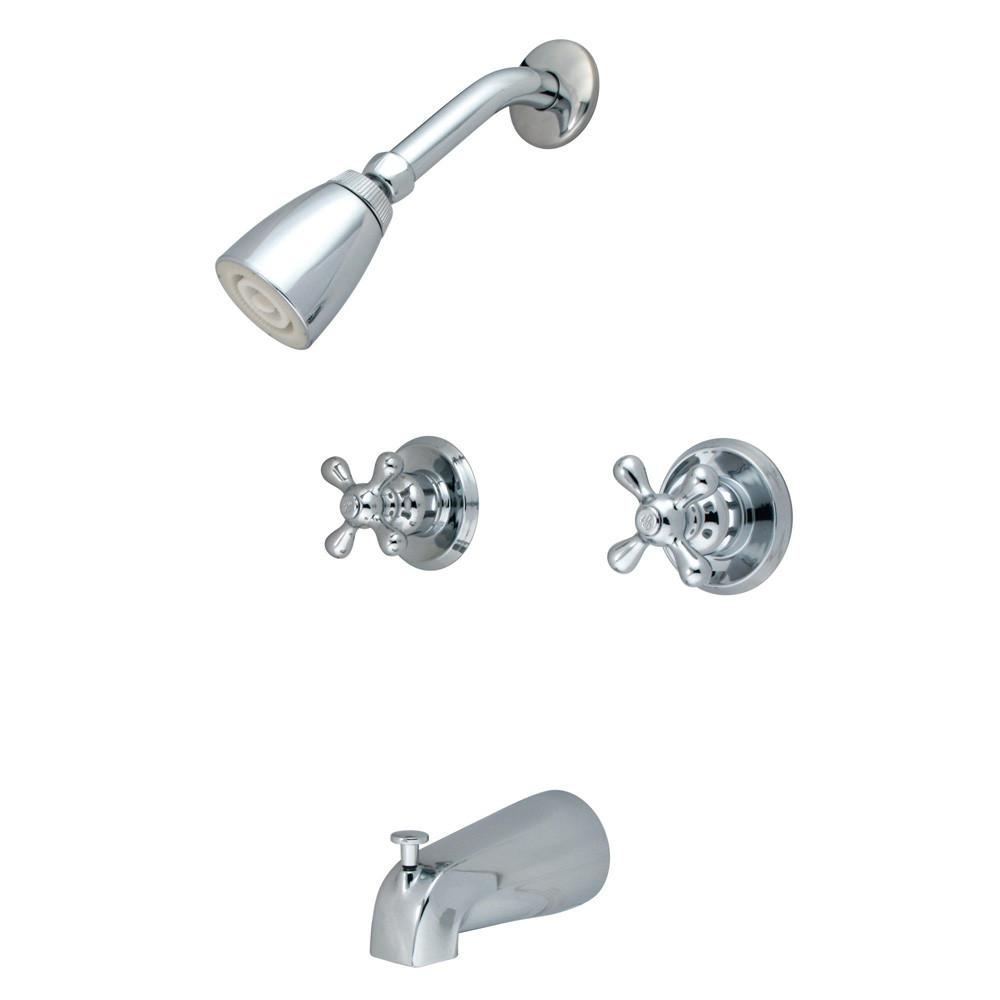 Kingston Magellan Chrome Two Handle Tub & Shower Combination Faucet KB241AX