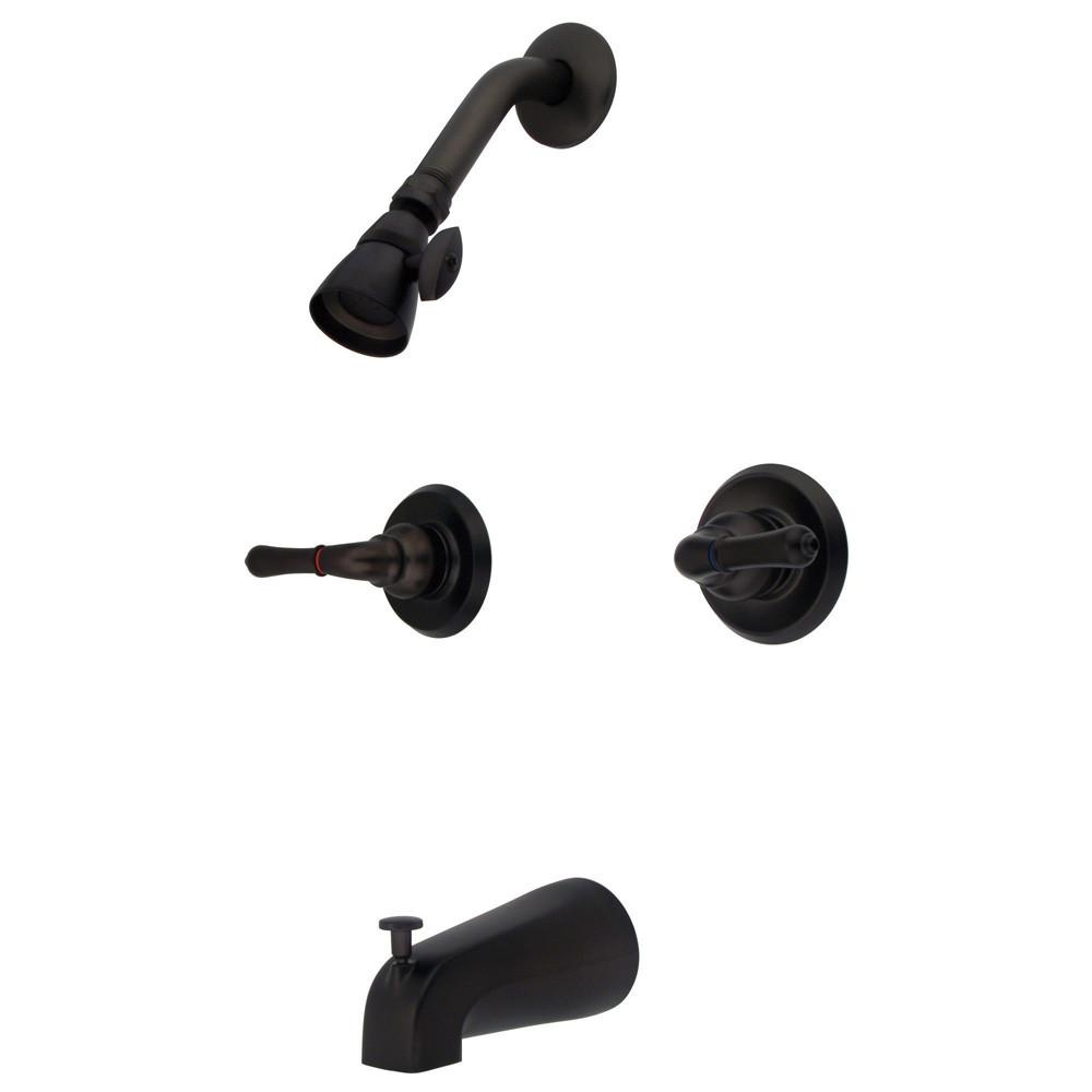 Oil Rubbed Bronze Magellan two handle tub and shower combination faucet KB245