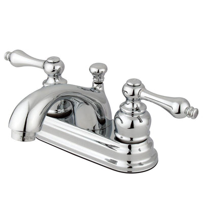 "Kingston Brass Chrome 2 Handle 4"" Centerset Bathroom Faucet with Pop-up KB2601AL"