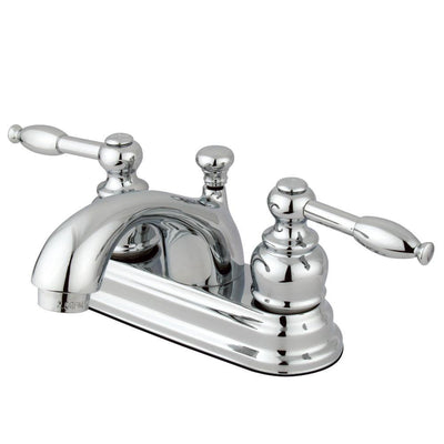 "Kingston Brass Chrome 2 Handle 4"" Centerset Bathroom Faucet with Pop-up KB2601KL"
