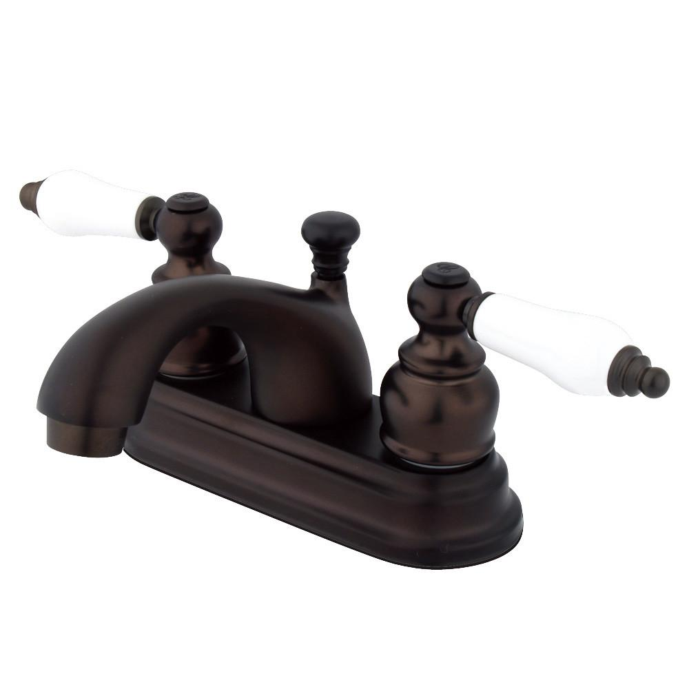 "Kingston Oil Rubbed Bronze 2 Handle 4"" Centerset Bathroom Faucet KB2605PL"