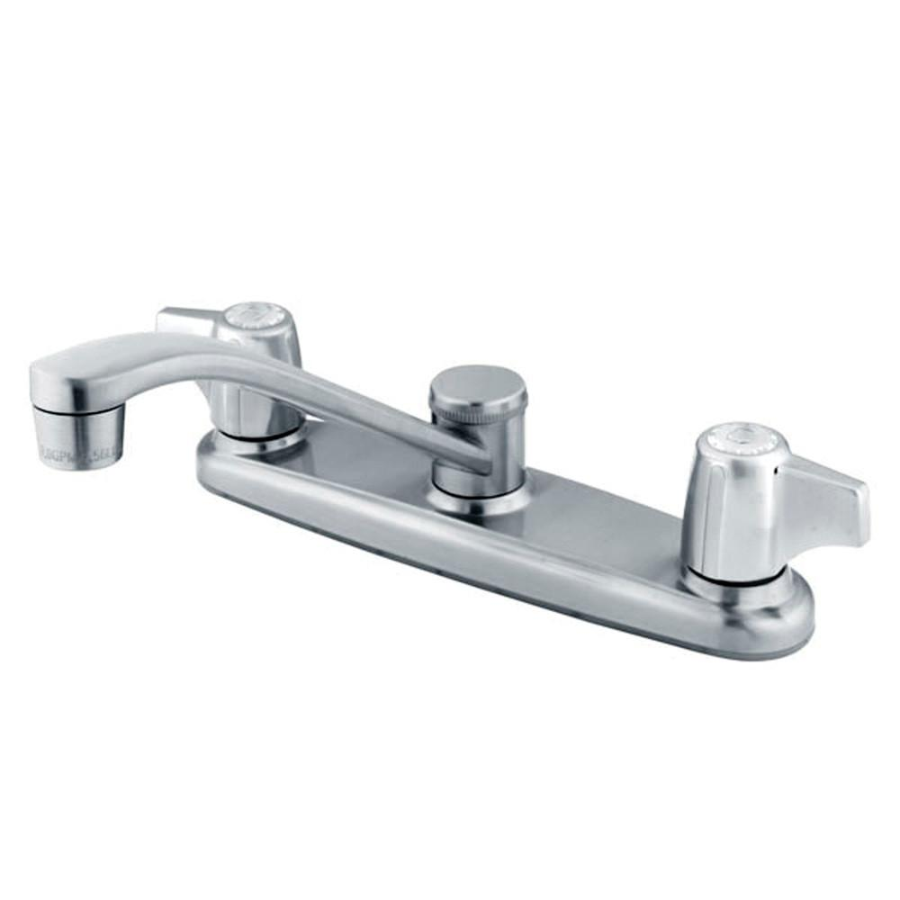 "Kingston Brass Chrome Twin Canopy Handle 8"" Kitchen Faucet KB261"
