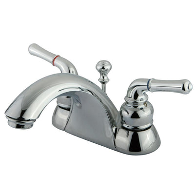 "Kingston Brass Chrome 2 Handle 4"" Centerset Bathroom Faucet with Pop-up KB2621B"