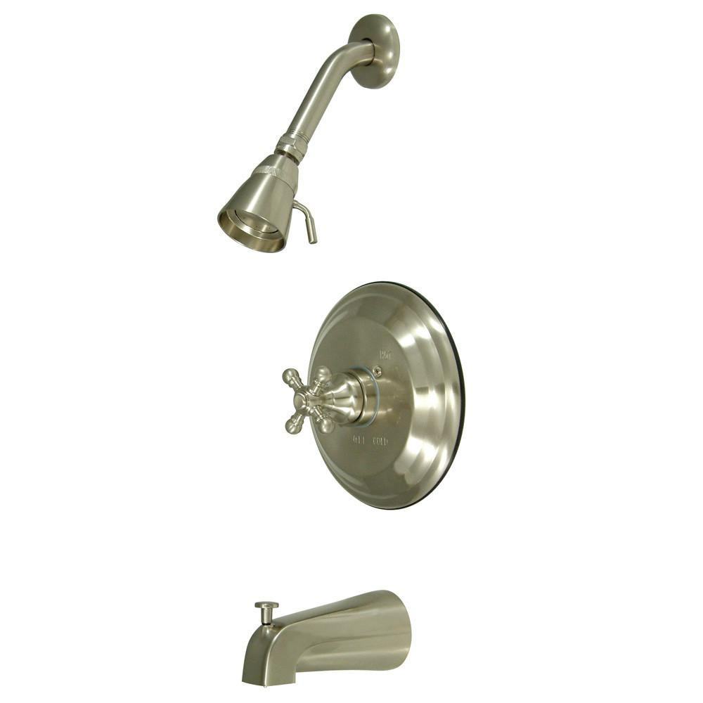Kingston Satin Nickel Single Handle Tub and Shower Combination Faucet KB2638BX