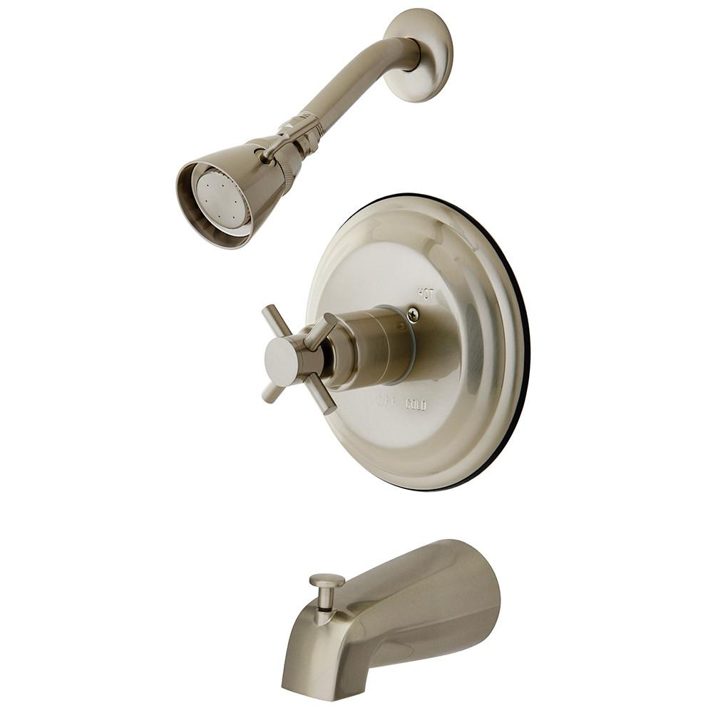 Kingston Brass Concord Satin Nickel Single Handle Tub & Shower Faucet KB2638DX