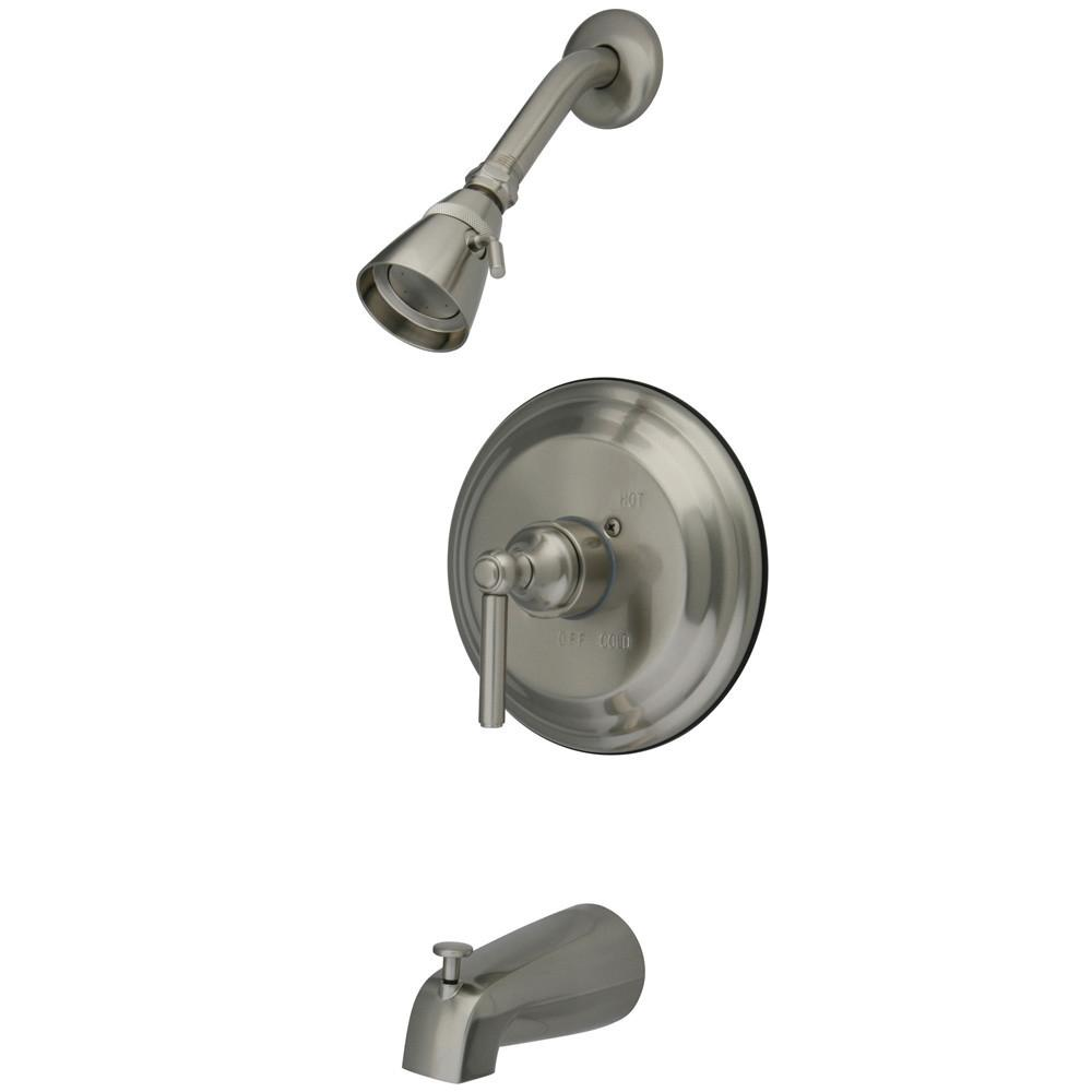 Kingston Brass Satin Nickel Single Handle Tub and Shower Combo Faucet KB2638EL