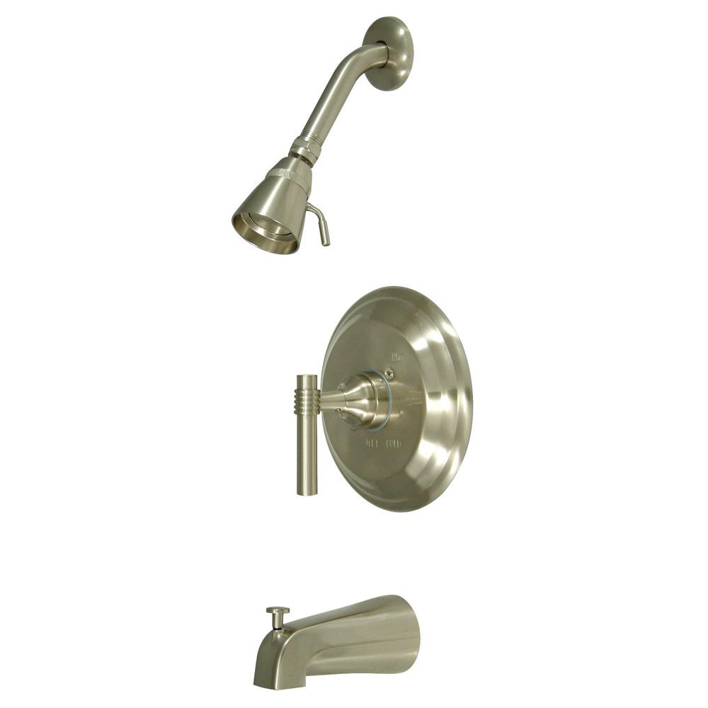 Kingston Satin Nickel Single Handle Tub and Shower Combination Faucet KB2638ML