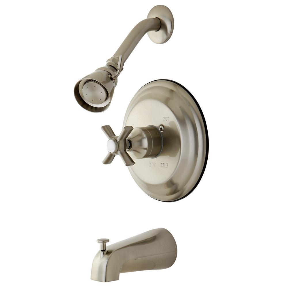 Kingston Brass KB2638ZX Tub and Shower Combination Faucet Satin Nickel