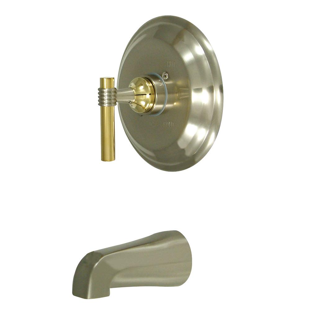 Milano Satin Nickel/Polished Brass Single Handle Tub Only Faucet KB2639MLTO