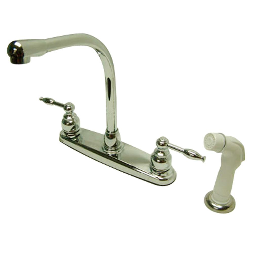 "Kingston Brass Chrome 8"" High-Arch Kitchen Faucet KB2751KL"