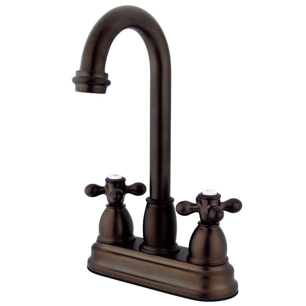 "Kingston Oil Rubbed Bronze Two Handle 4"" Centerset Bar Prep Sink Faucet KB3495AX"
