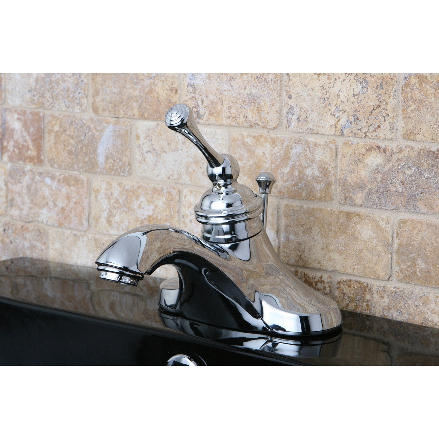 "Kingston Chrome Single Handle 4"" Centerset Bathroom Faucet with Pop-up KB3541BL"
