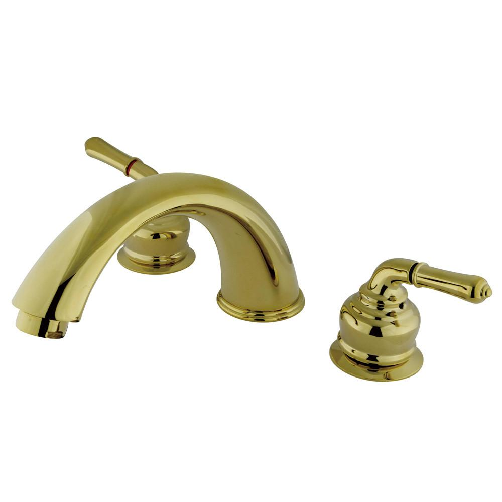 Kingston Brass Polished Brass Magellan roman tub filler faucet KB362