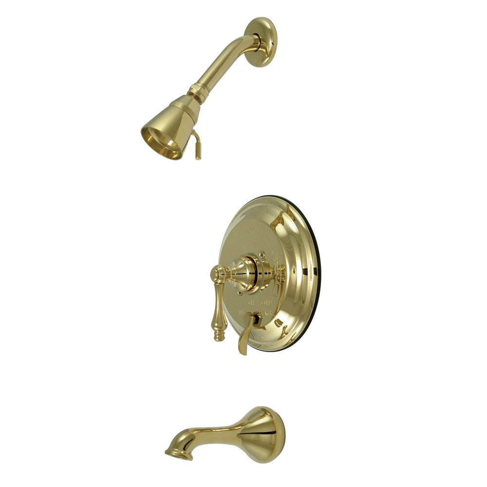 Kingston Polished Brass Single Handle Tub & Shower Combination Faucet KB36320AL