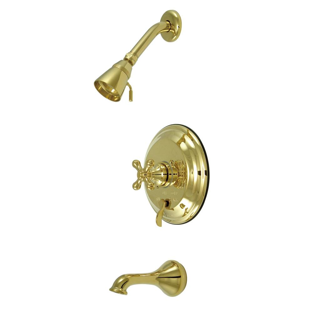 Kingston Polished Brass Single Handle Tub & Shower Combination Faucet KB36320AX