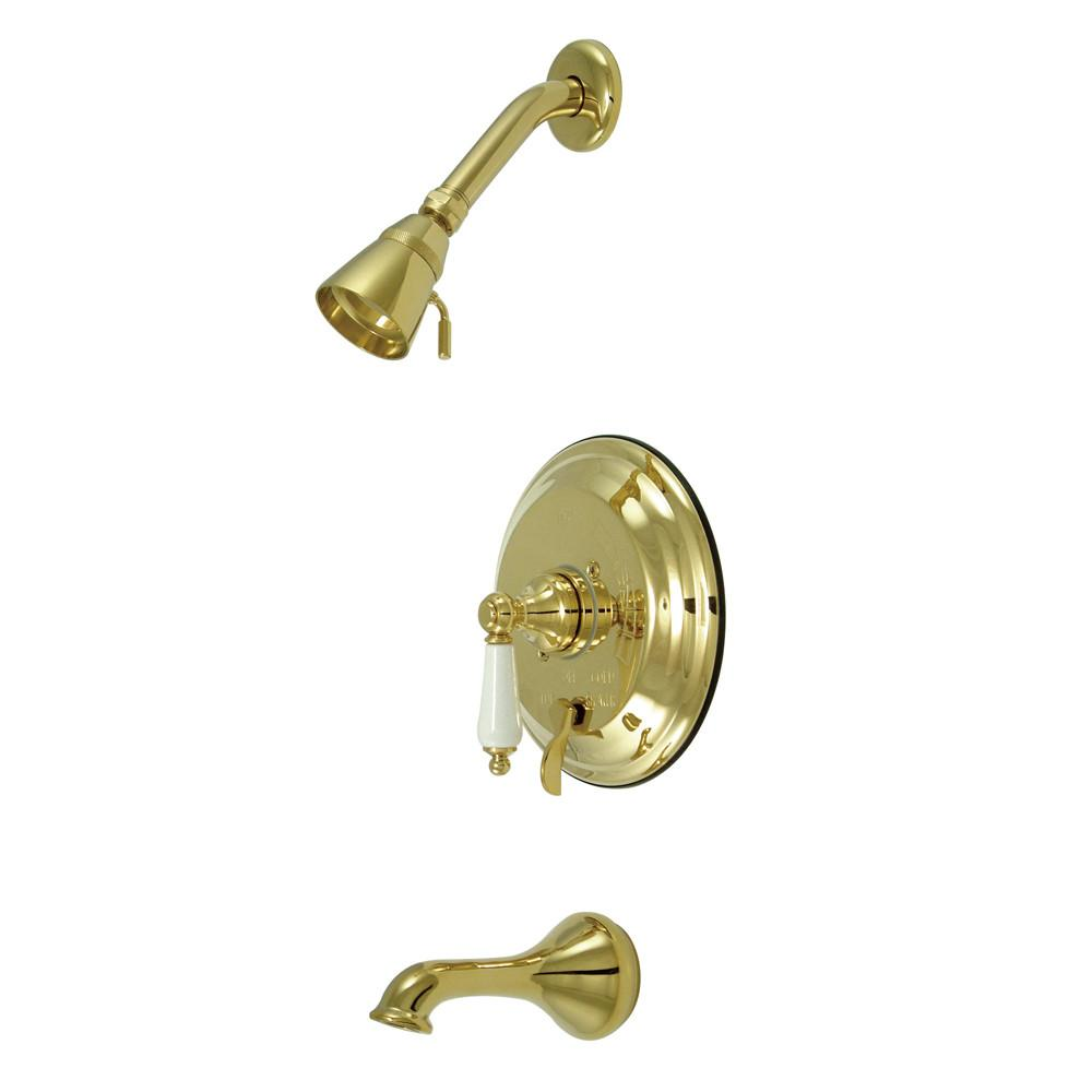 Polished Brass Single Handle Tub and Shower Combination Faucet KB36320PL