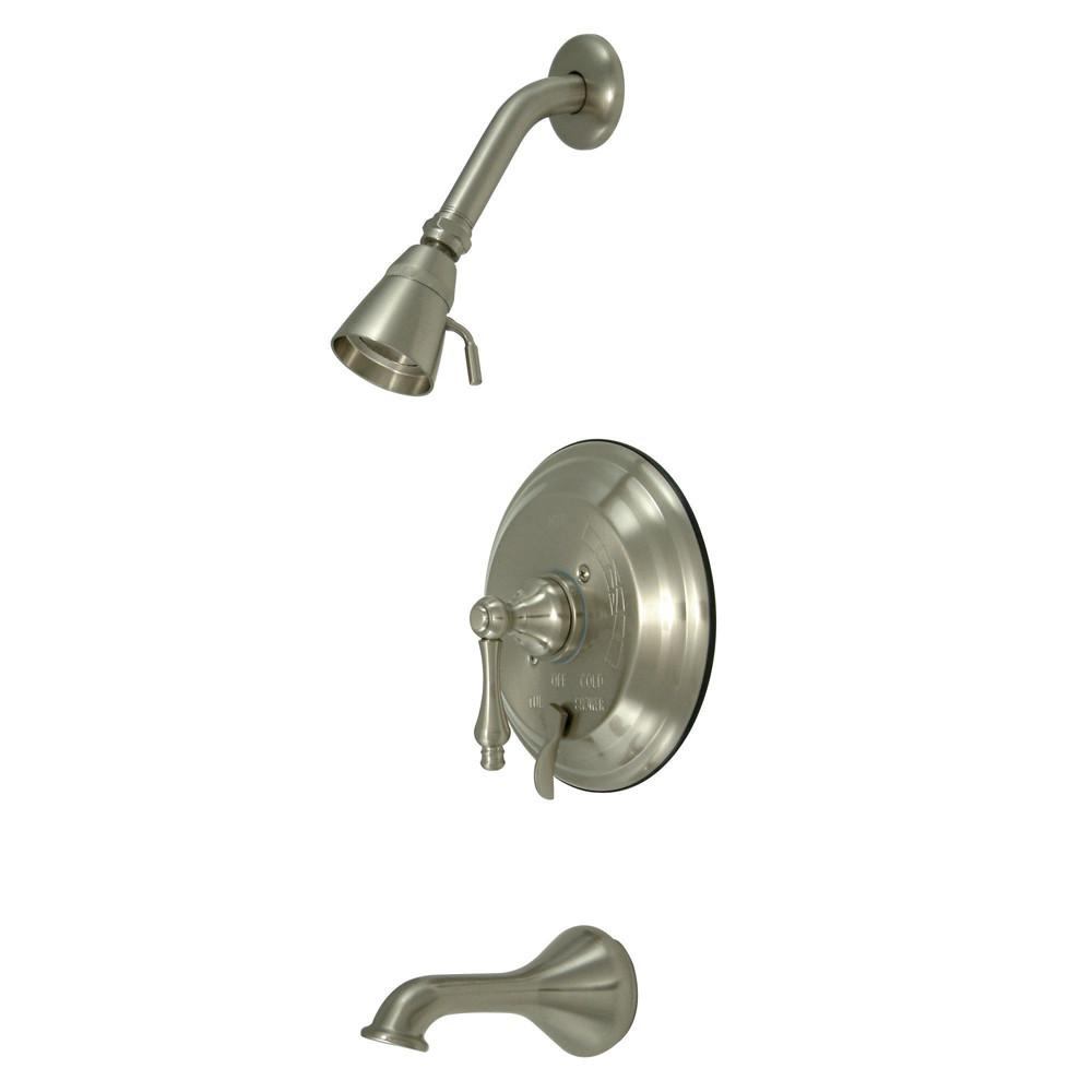 Kingston Satin Nickel Single Handle Tub & Shower Combination Faucet KB36380AL