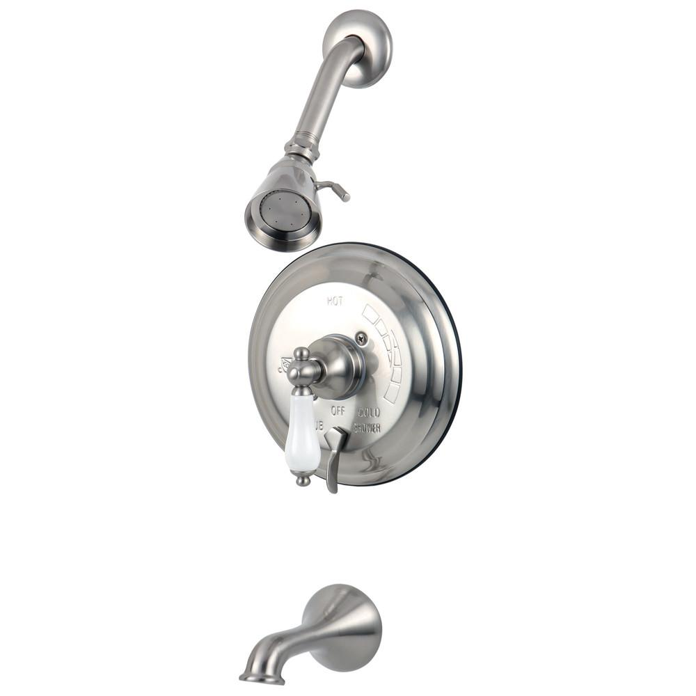 Restoration Satin Nickel Single Handle Tub & Shower Combo Faucet KB36380PL