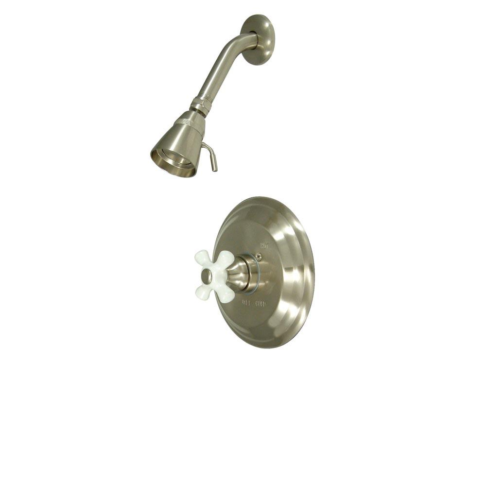 Kingston Brass Vintage Satin Nickel Single Handle Shower Only Faucet KB3638PXSO