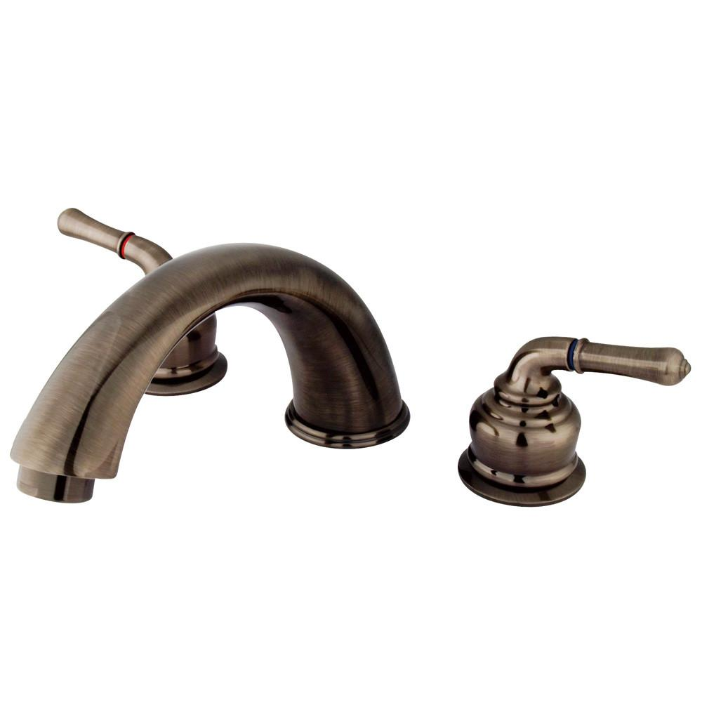 Kingston Brass Vintage Nickel Magellan roman tub filler faucet KB363
