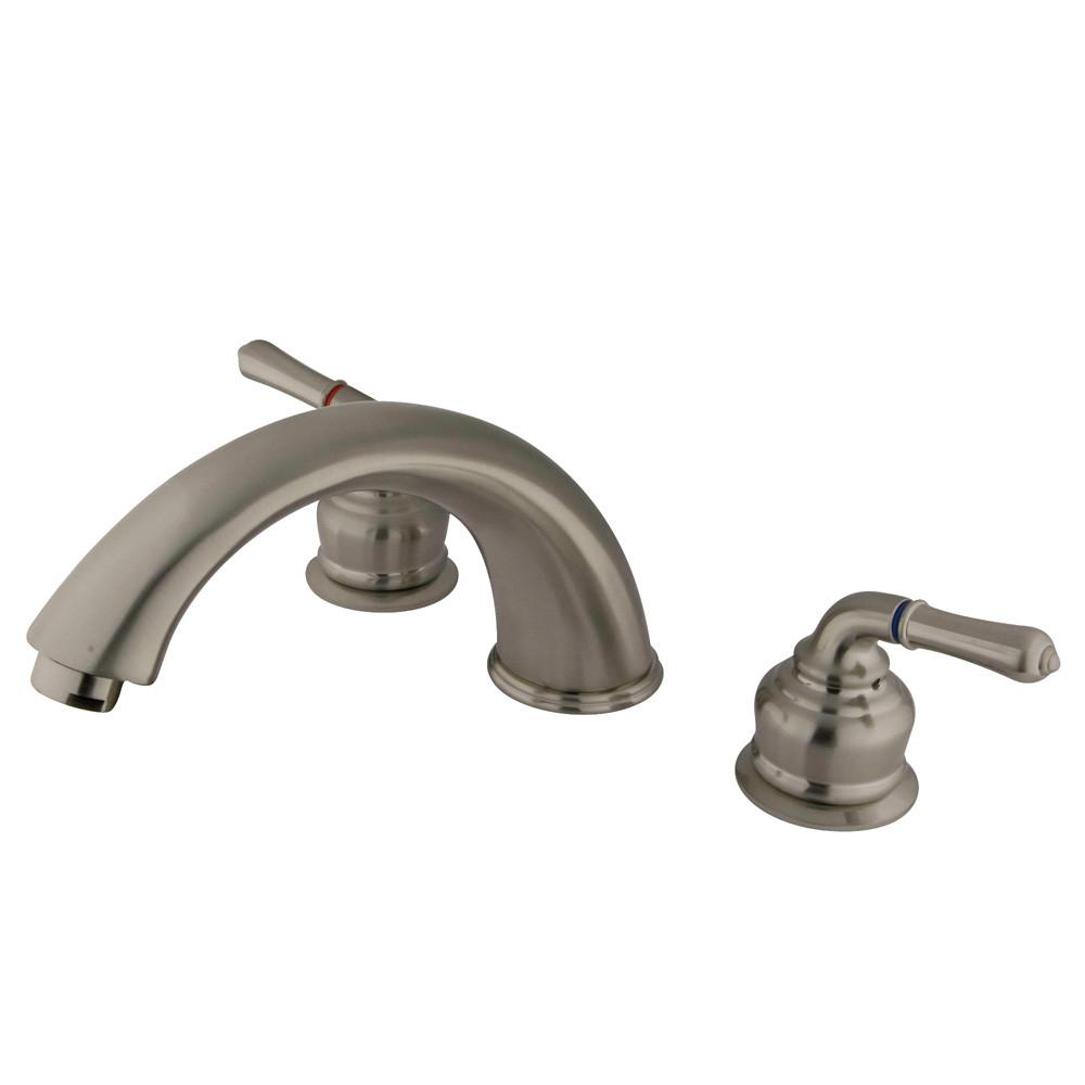 Kingston Brass Satin Nickel Magellan roman tub filler faucet KB368