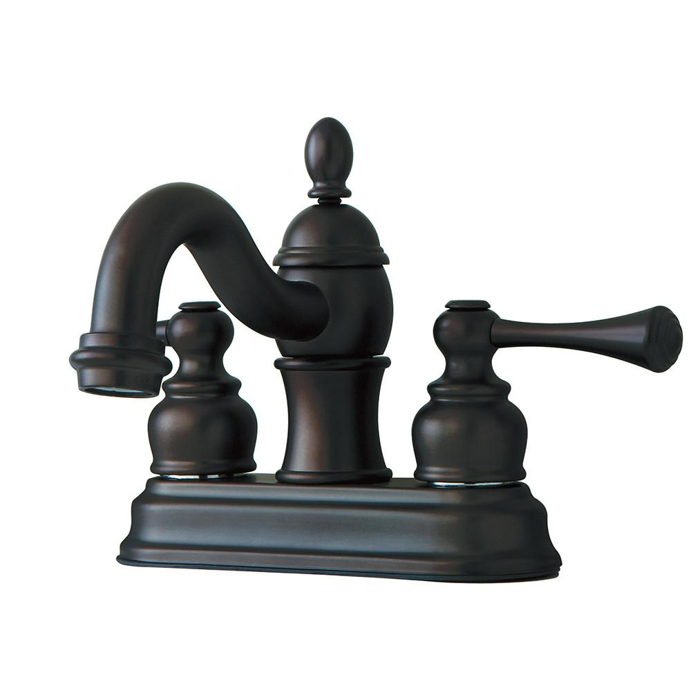 "Kingston Oil Rubbed Bronze 2 Handle 4"" Centerset Bathroom Faucet KB3905BL"