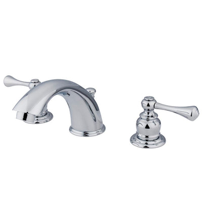 Kingston Brass Chrome 2 Handle Widespread Bathroom Faucet with Pop-up KB3971BL