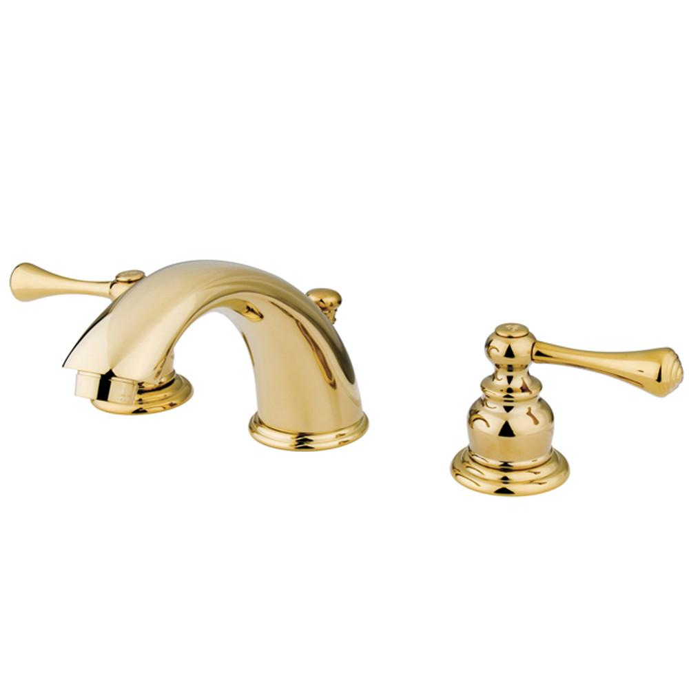Kingston Brass Polished Brass 2 Handle Widespread Bathroom Faucet KB3972BL