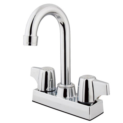 "Kingston Brass Chrome Two Handle 4"" Centerset Bar Prep Sink Faucet KB460"