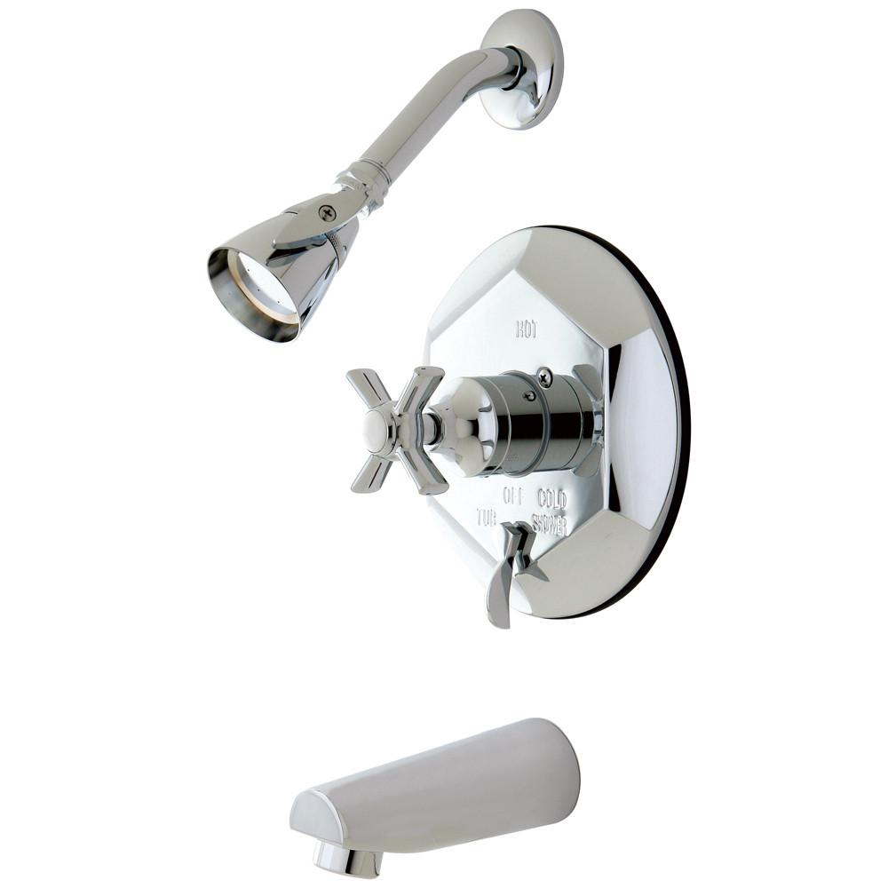 Kingston Brass KB46310ZX Tub and Shower Combination Faucet Polished Chrome