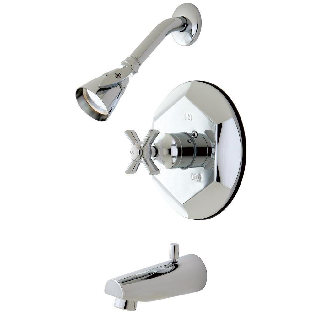 Kingston Brass KB4631ZX Tub and Shower Combination Faucet Polished Chrome