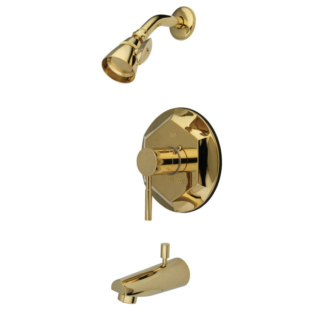 Kingston Brass Concord Polished Brass Single Handle Tub & Shower Faucet KB4632DL