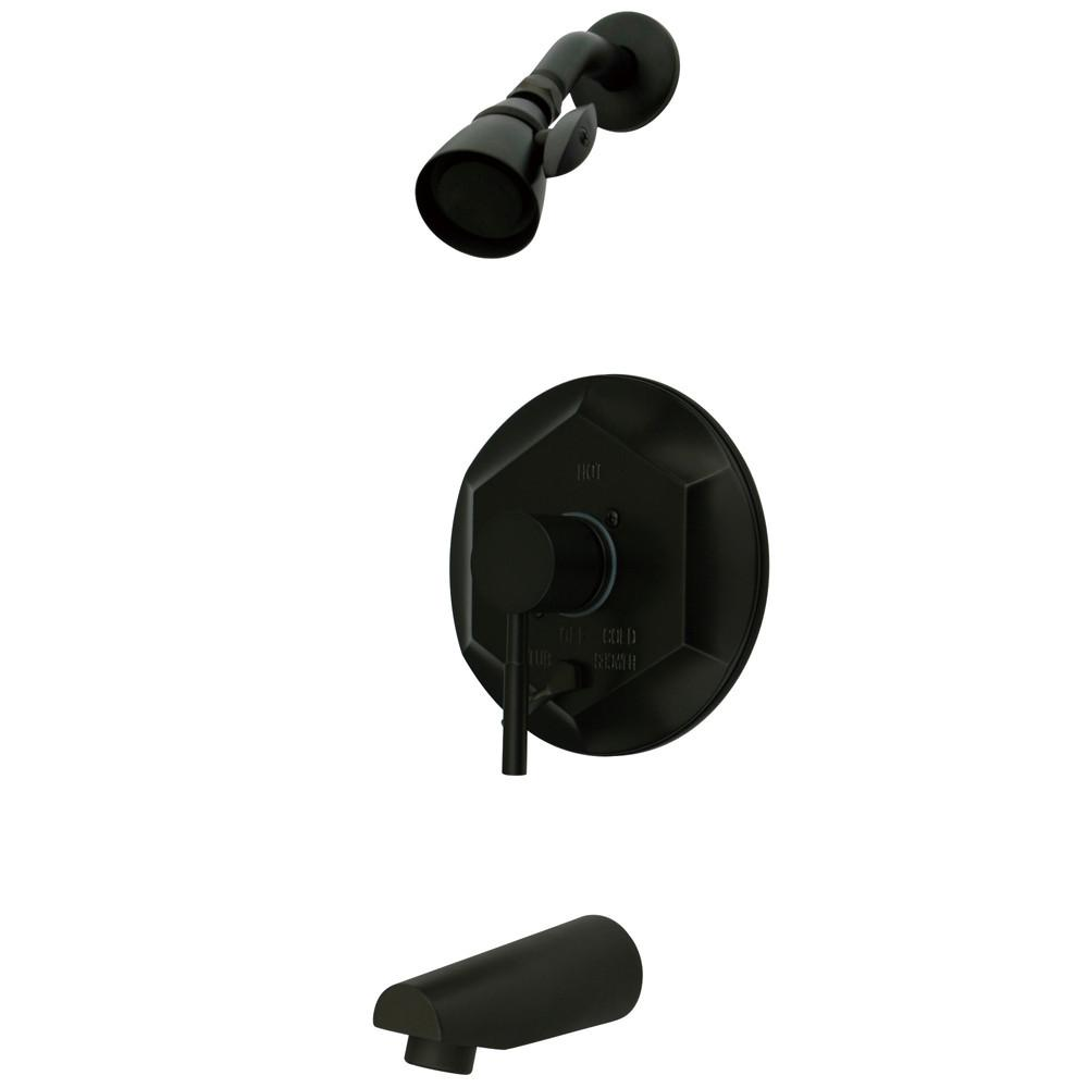 Kingston Concord Oil Rubbed Bronze Single Handle Tub & Shower Faucet KB46350DL