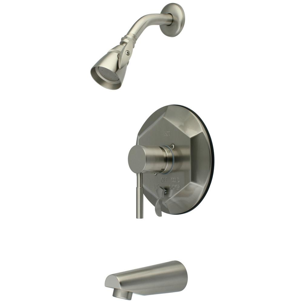 Kingston Brass Concord Satin Nickel Single Handle Tub & Shower Faucet KB46380DL