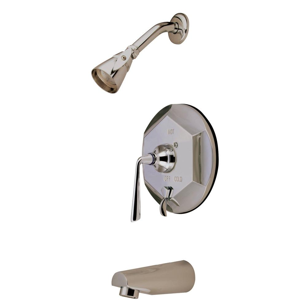 Kingston Silver Sage Satin Nickel Tub & Shower Combination Faucet KB46380ZL