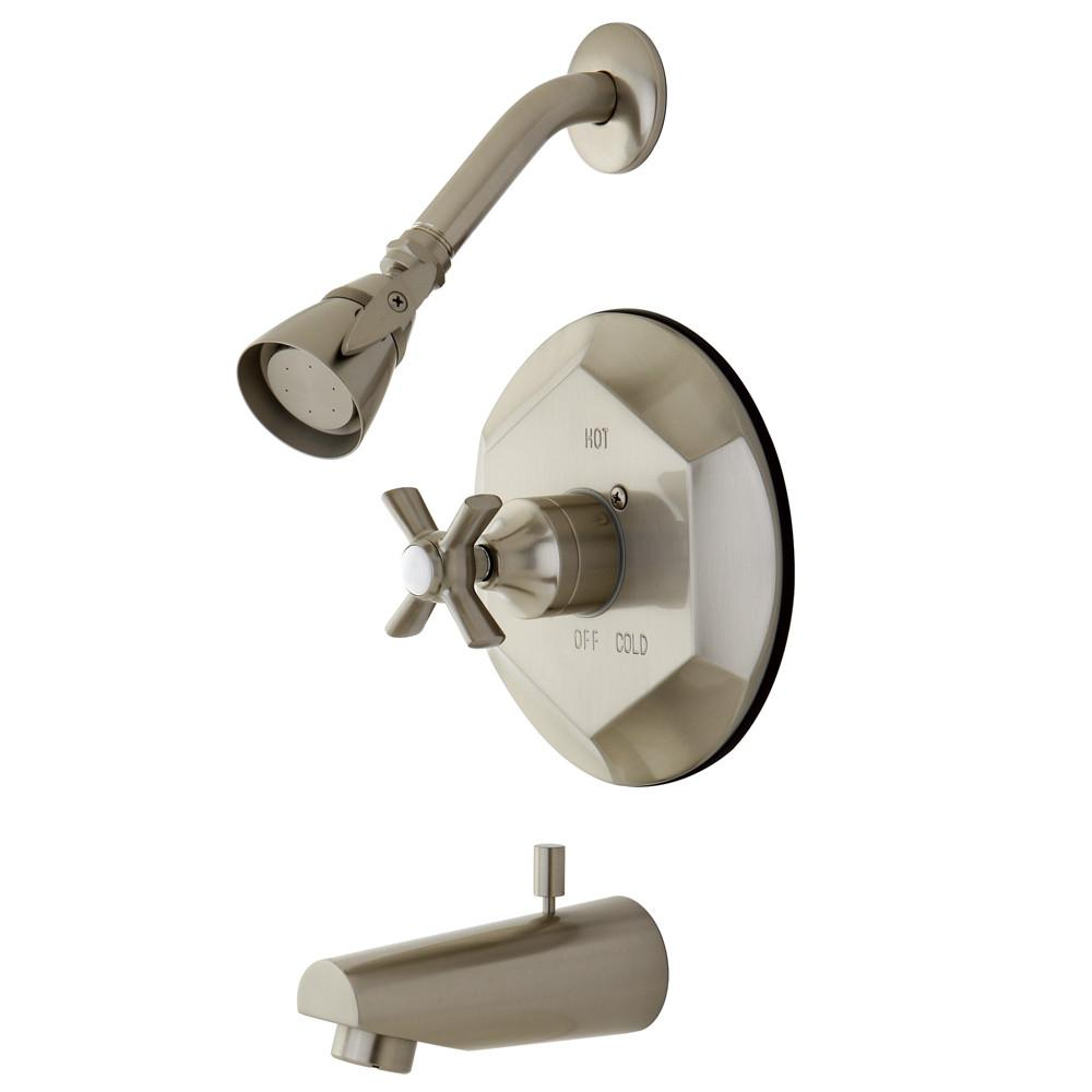 Kingston Brass KB4638ZX Tub and Shower Combination Faucet Satin Nickel