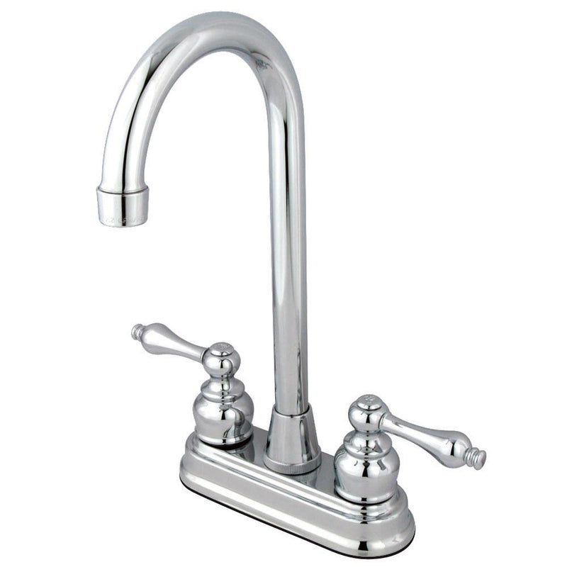 high arch kitchen faucet kingston chrome two handle 4 quot centerset high arch bar prep sink faucet faucetlist com 8250