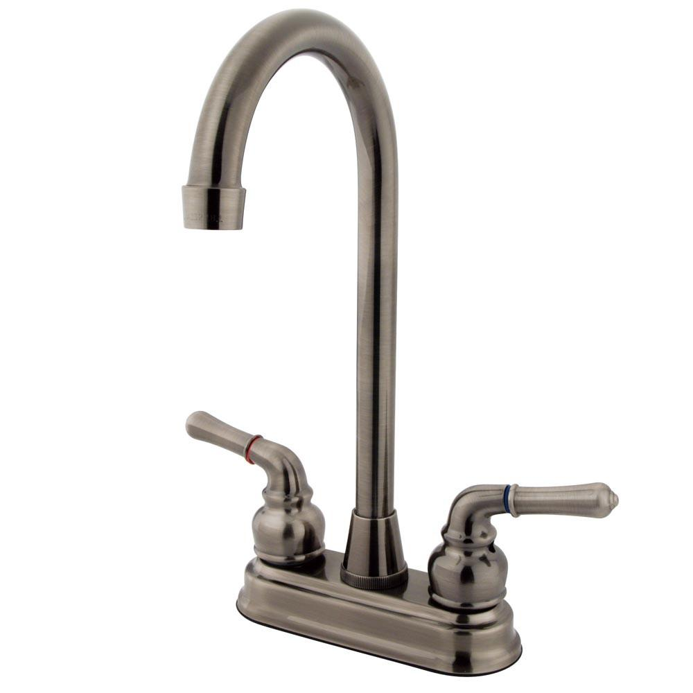 "Kingston Brass Vintage Nickel Magellan 4"" bar / prep sink faucet KB493"
