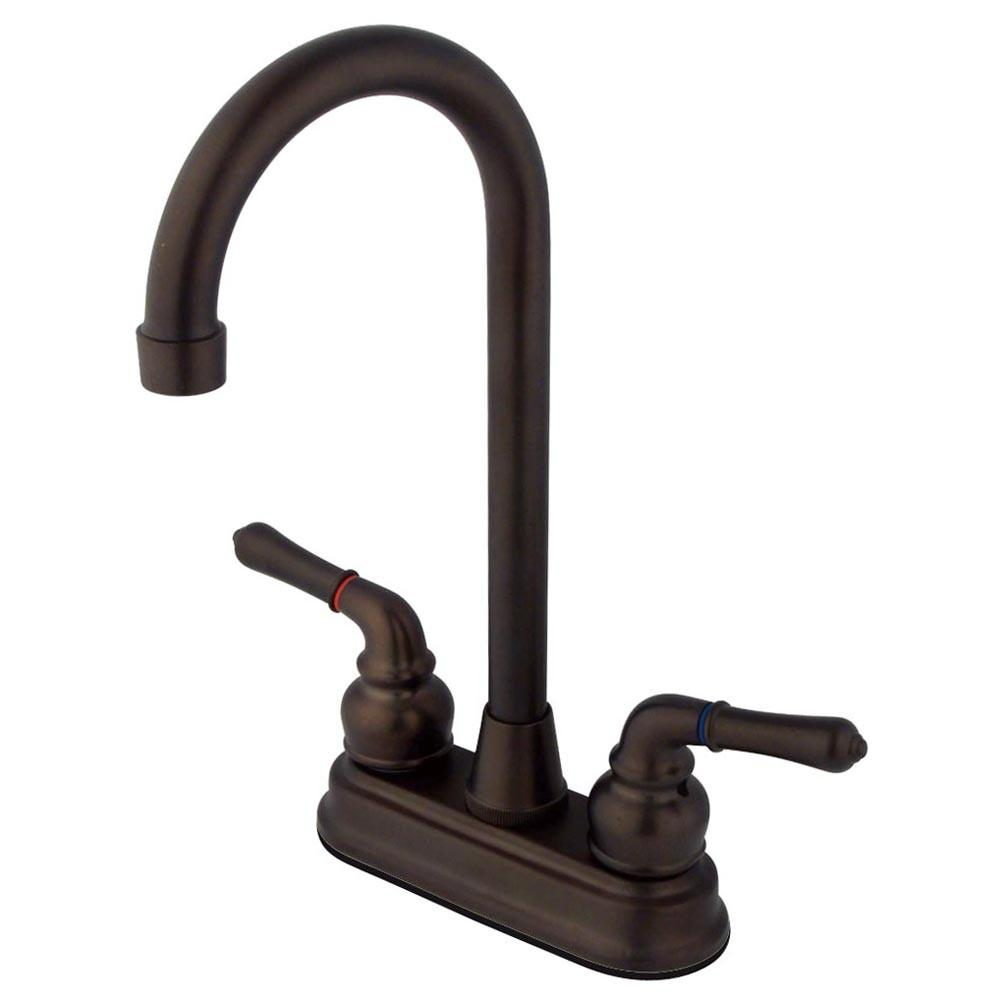 "Kingston Brass Oil Rubbed Bronze Magellan 4"" bar / prep sink faucet KB495"