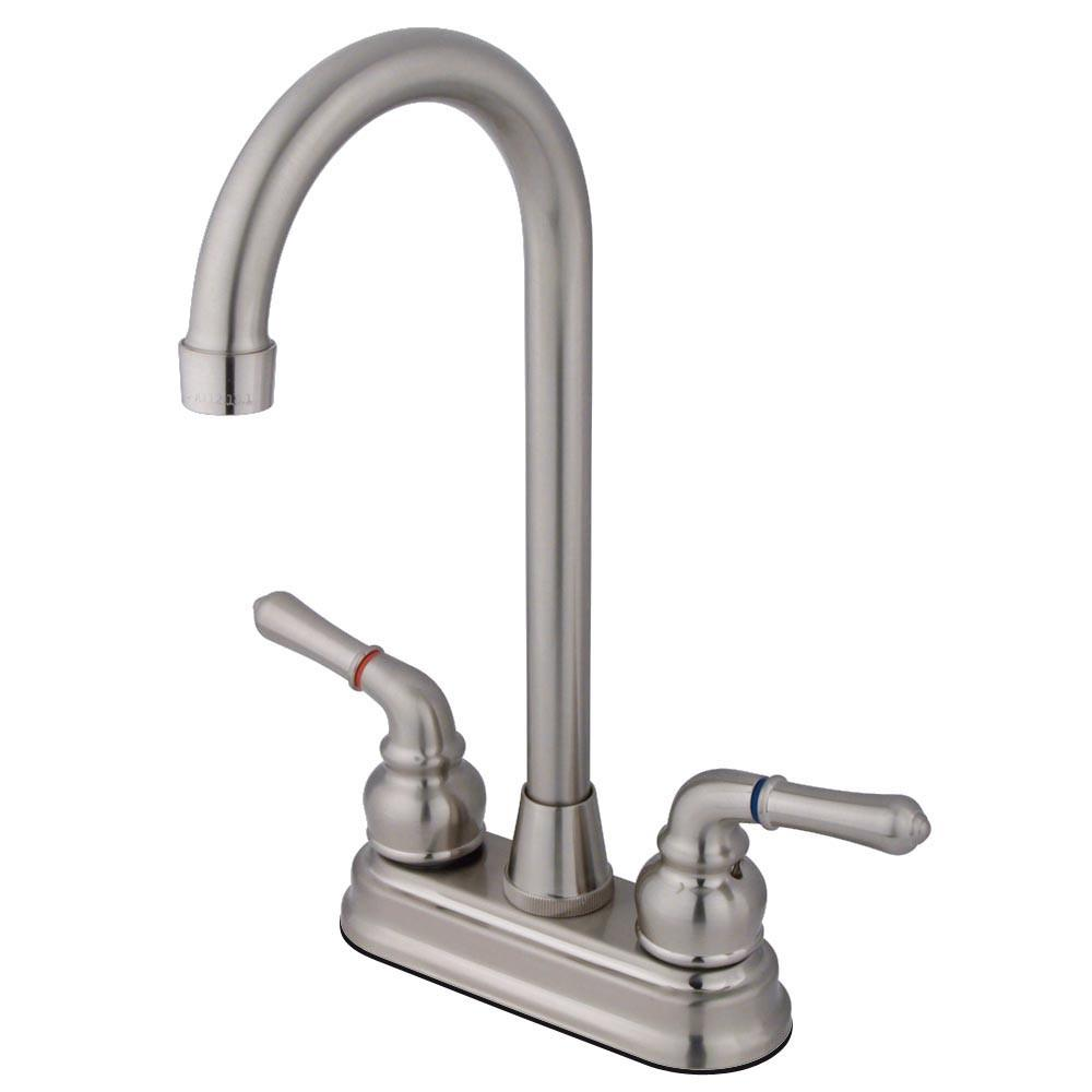 "Kingston Brass Satin Nickel Magellan 4"" bar / prep sink faucet KB498"